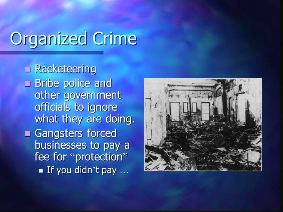 Organized Crime Racketeering