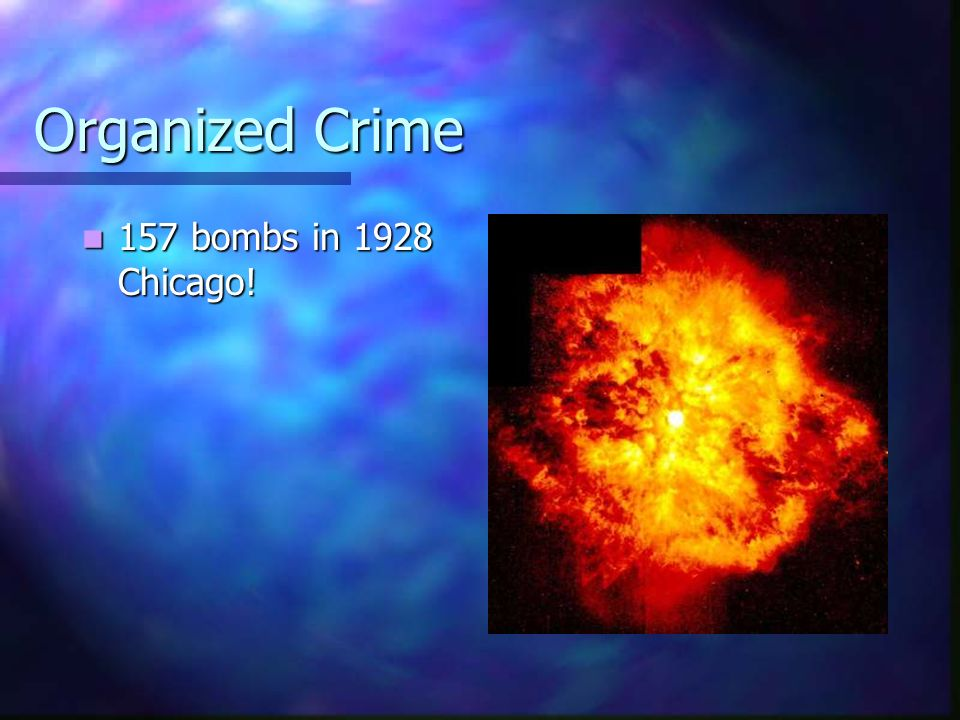 Organized Crime 157 bombs in 1928 Chicago!