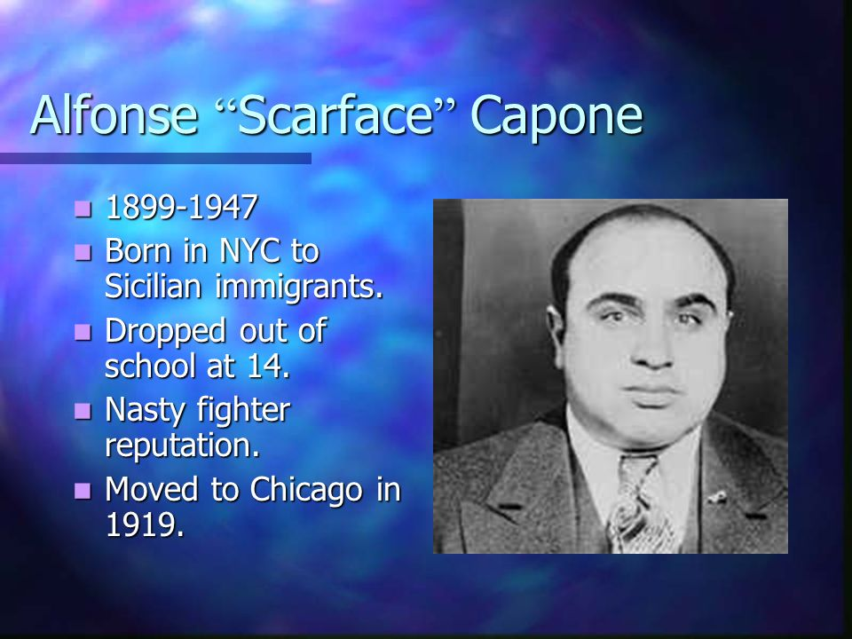 Alfonse Scarface Capone