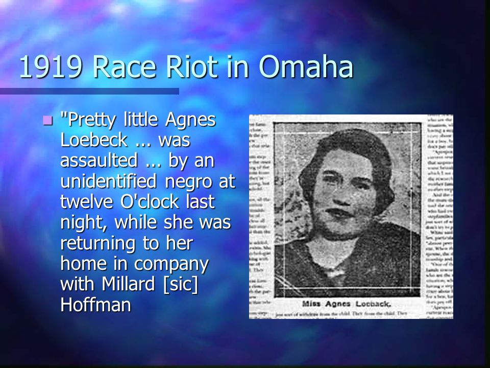 1919 Race Riot in Omaha