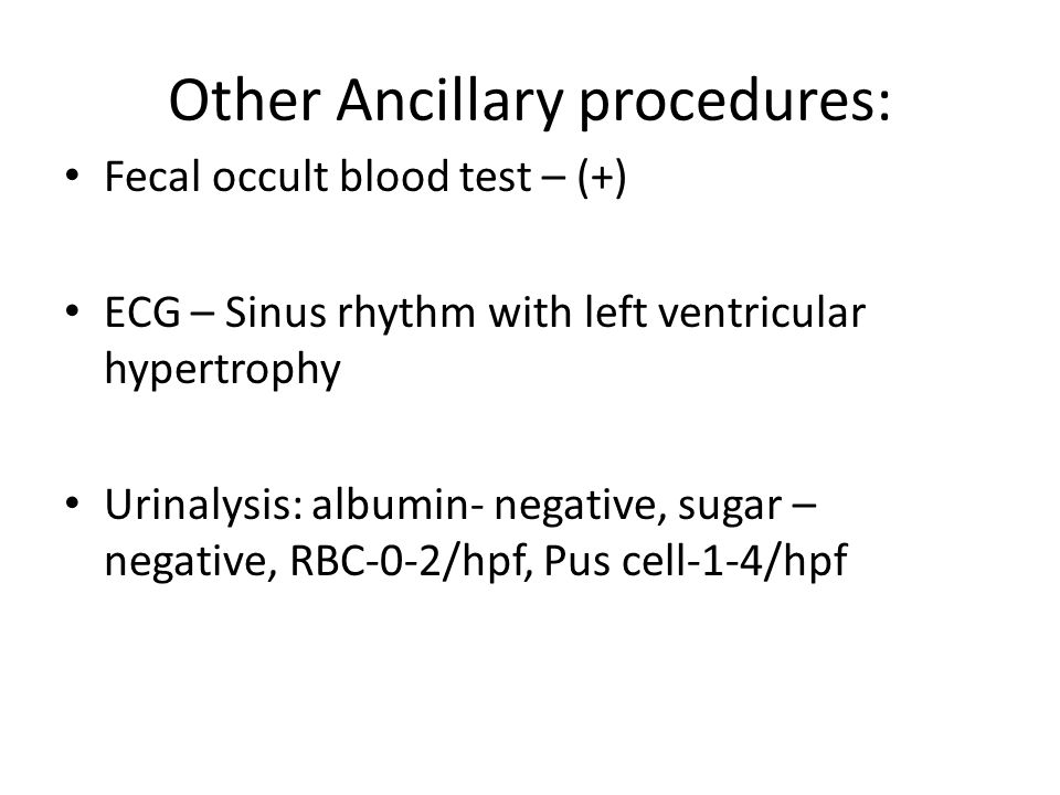 Other Ancillary procedures: