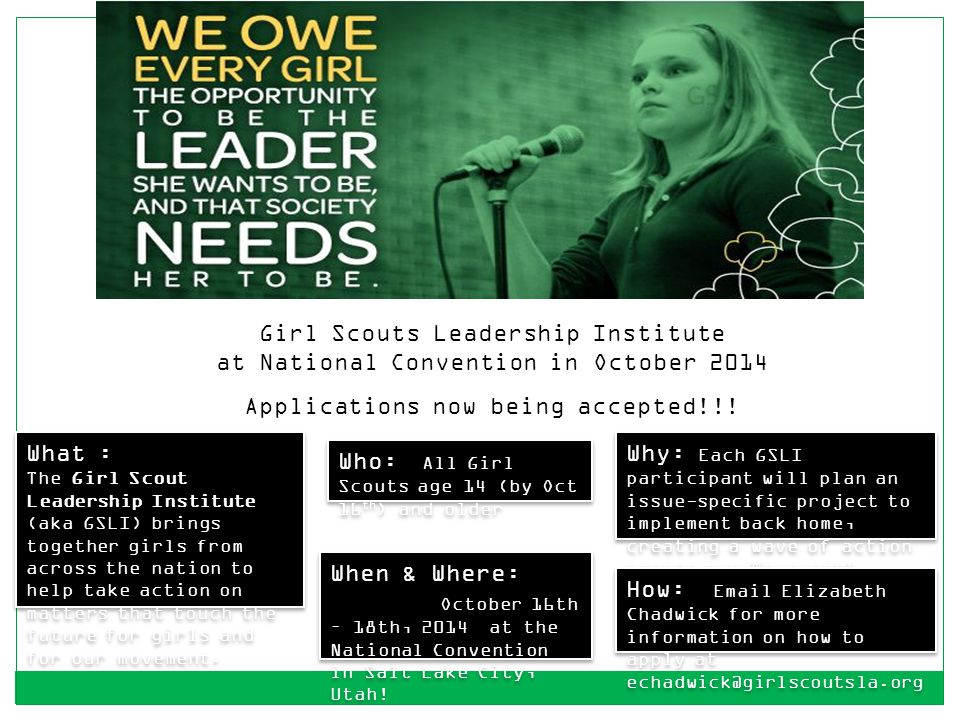 Girl Scouts Leadership Institute