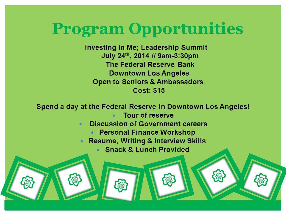 Program Opportunities