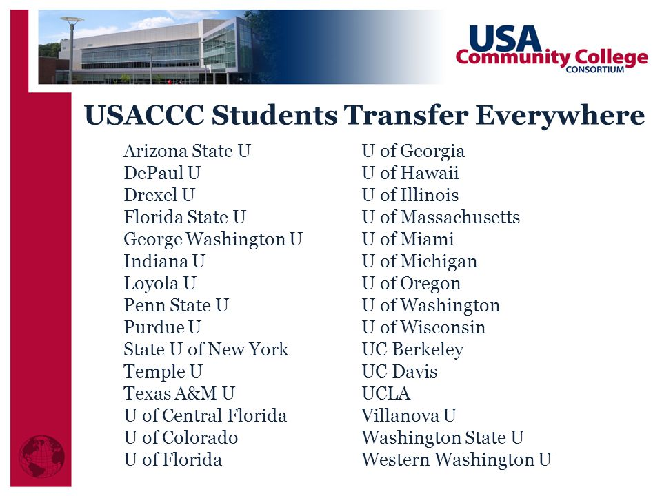 USACCC Students Transfer Everywhere