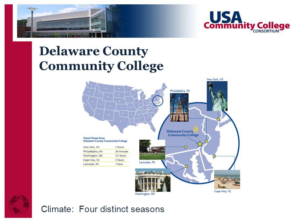 Delaware County Community College Climate: Four distinct seasons