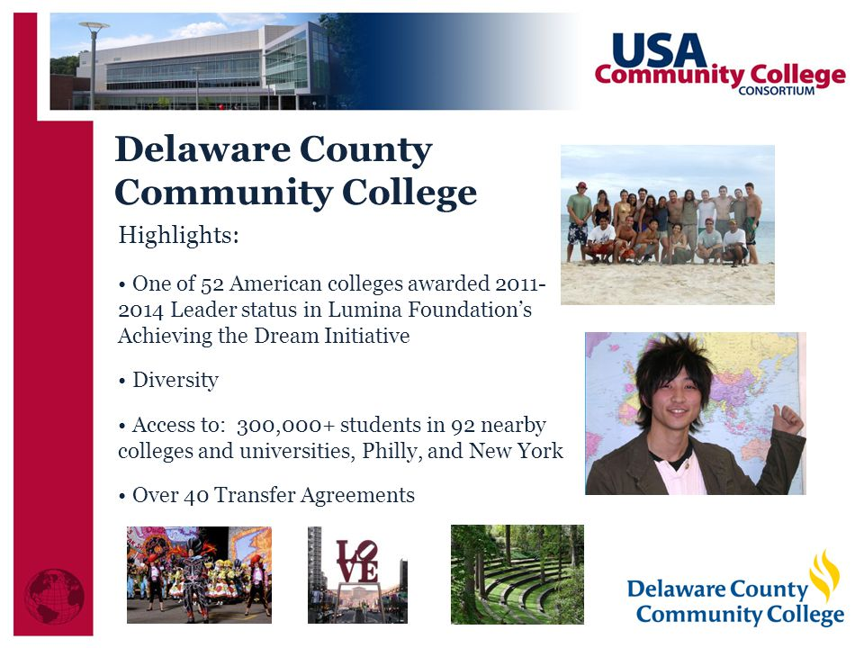 Delaware County Community College Highlights: