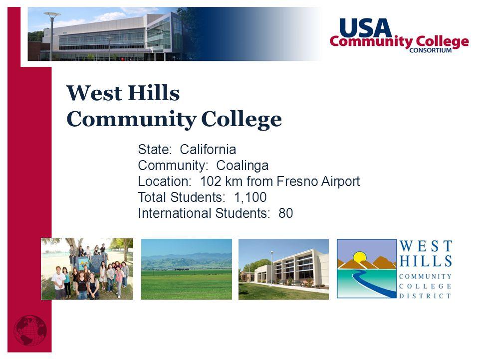 West Hills Community College State: California Community: Coalinga