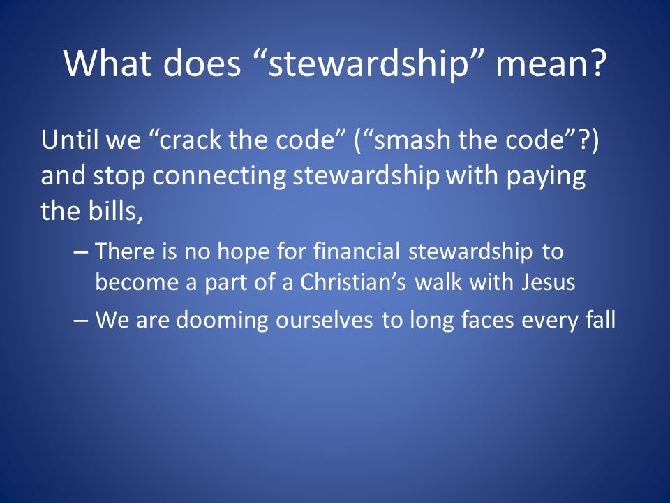 What does stewardship mean