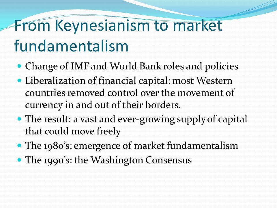 From Keynesianism to market fundamentalism