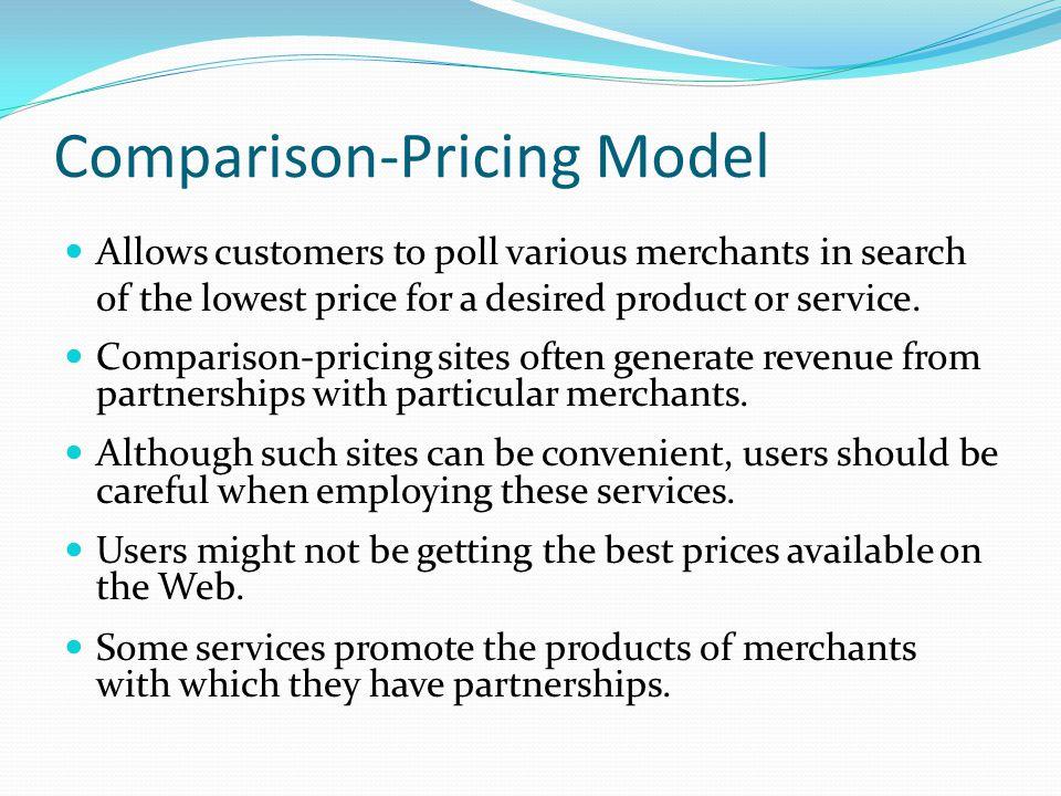 Comparison-Pricing Model