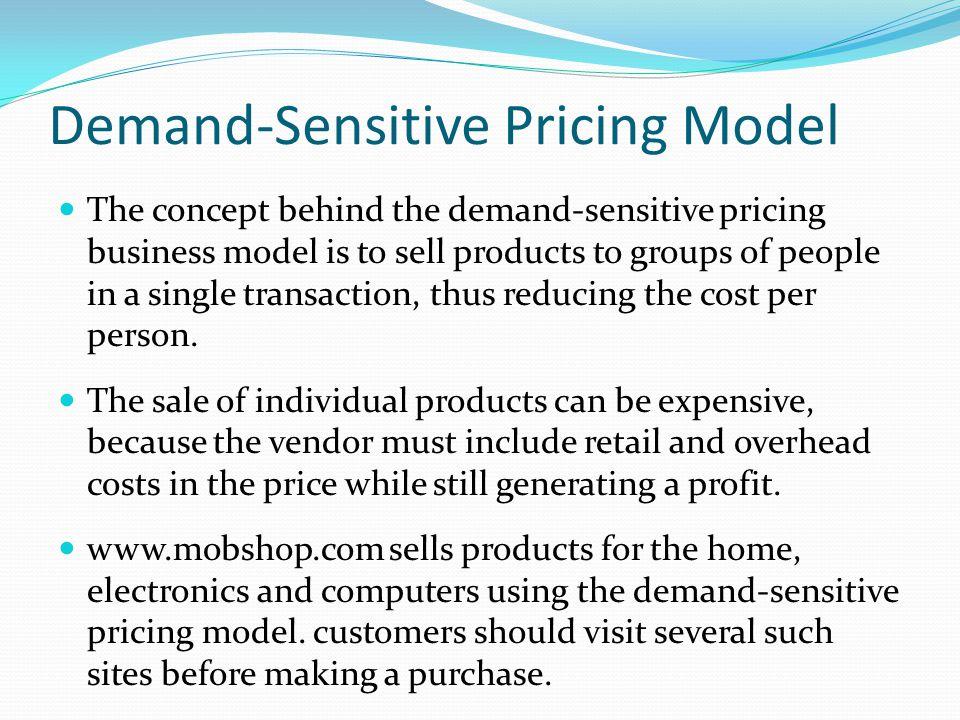 Demand-Sensitive Pricing Model