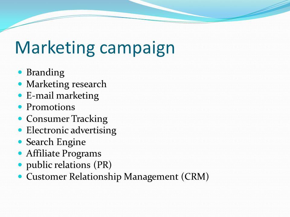 Marketing campaign Branding Marketing research E-mail marketing