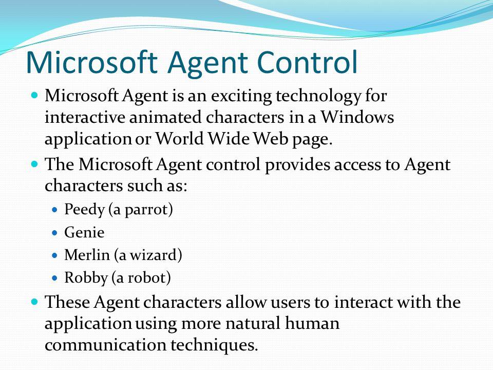 Microsoft Agent Control