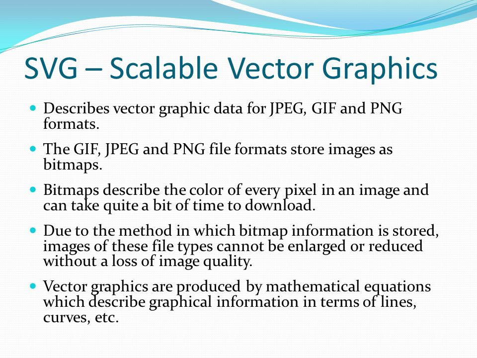 SVG – Scalable Vector Graphics