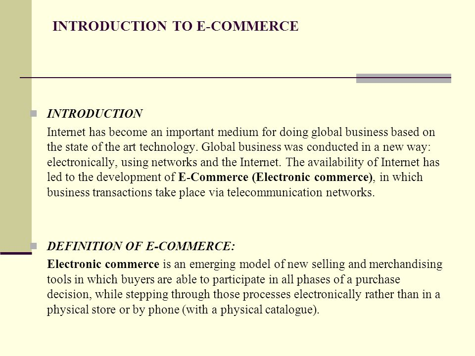 introduction to internet and e business The e-business strategy framework introduction to part 2 59 internet world 83 412 segmenting business markets for e-business 84.