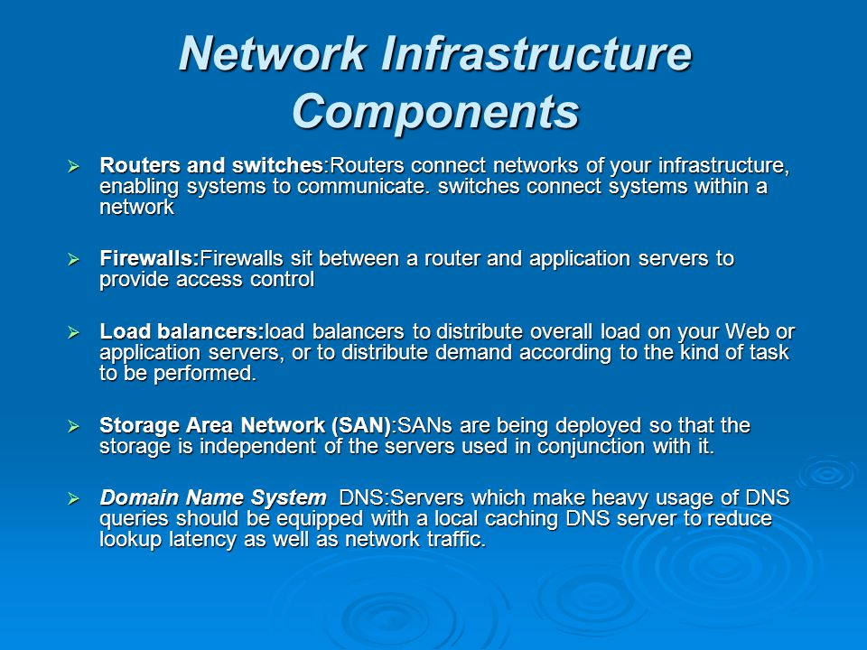 Network Infrastructure Components