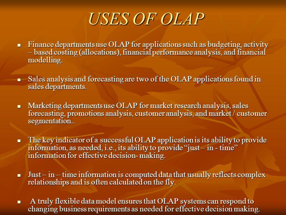 USES OF OLAP