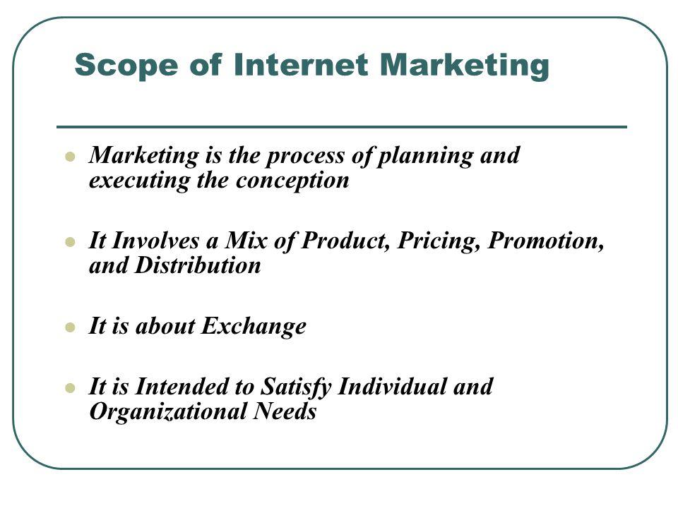 Scope of Internet Marketing