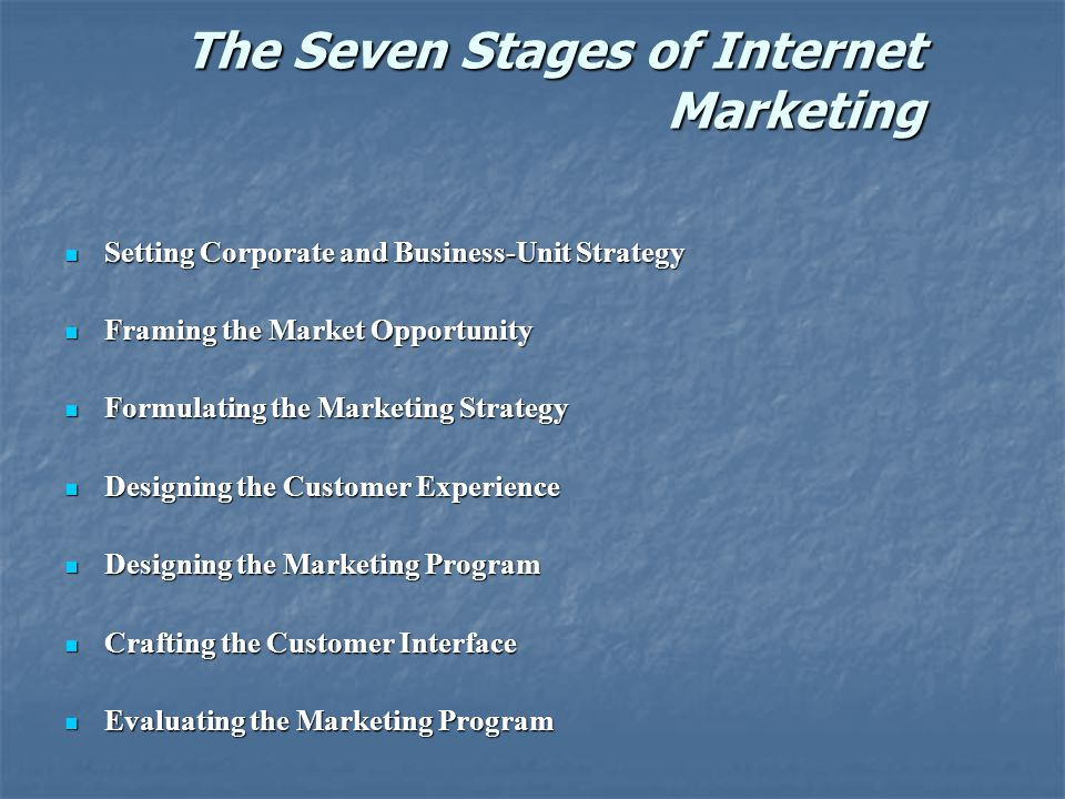 The Seven Stages of Internet Marketing