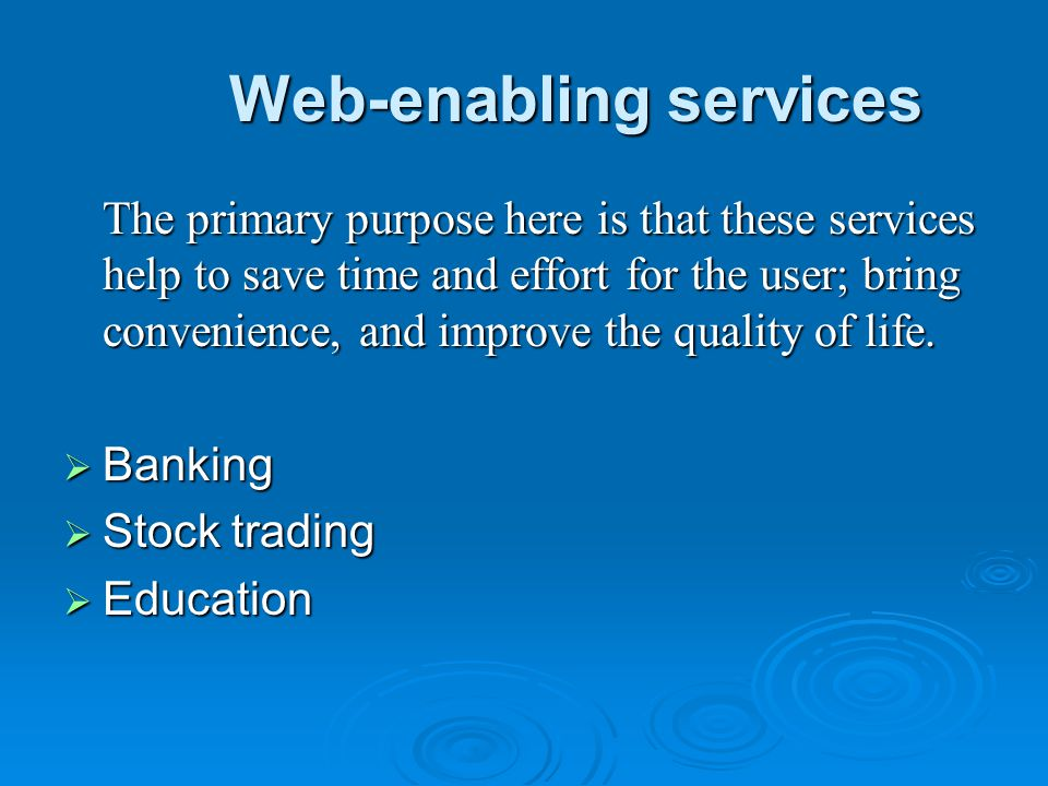 Web-enabling services