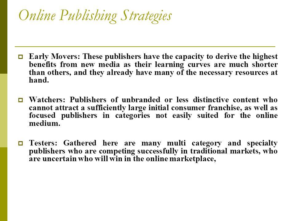 Online Publishing Strategies