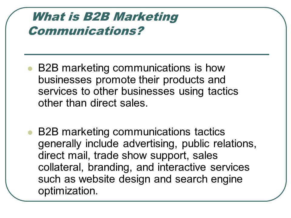 What is B2B Marketing Communications