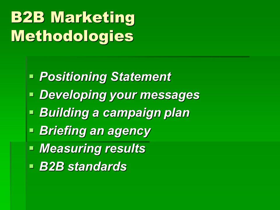 B2B Marketing Methodologies