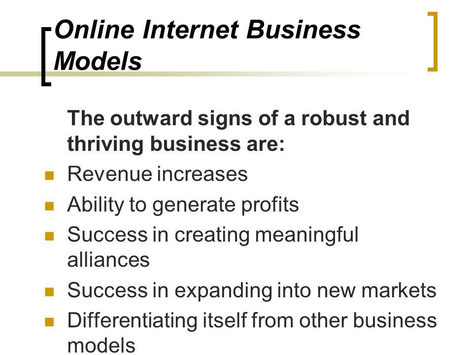 Online Internet Business Models