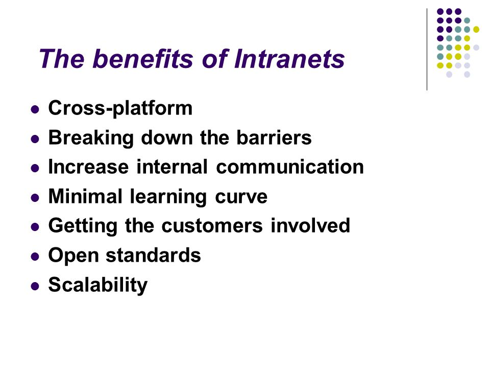 The benefits of Intranets