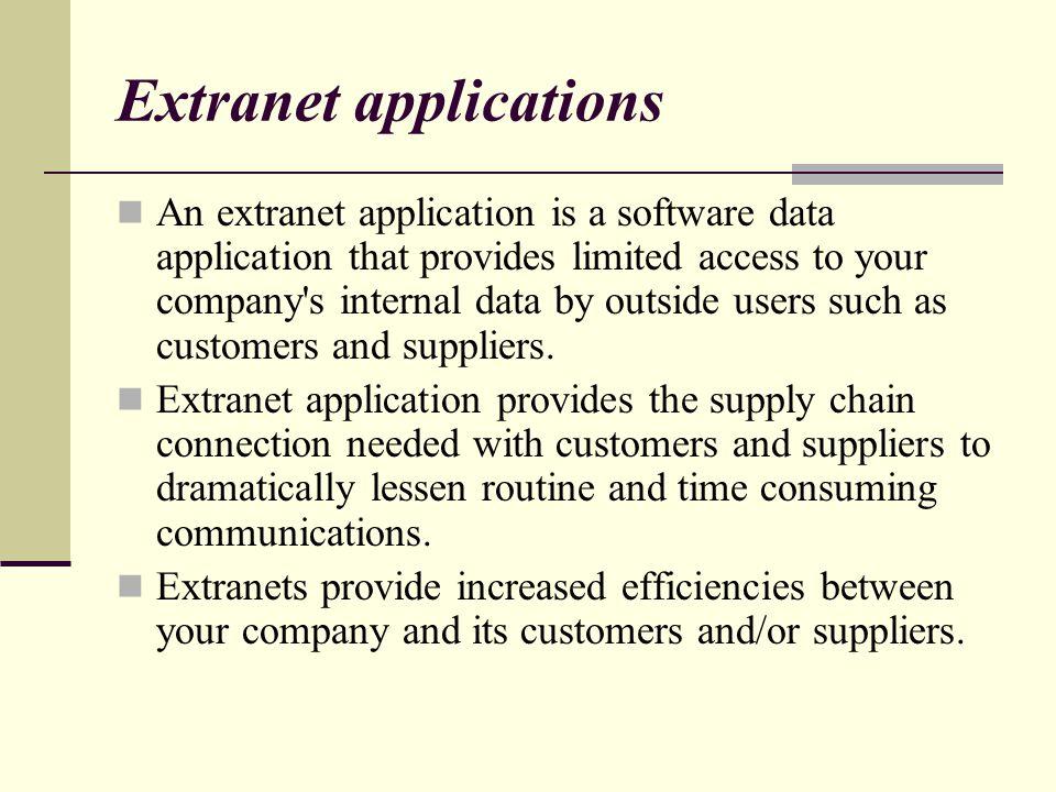 Extranet applications