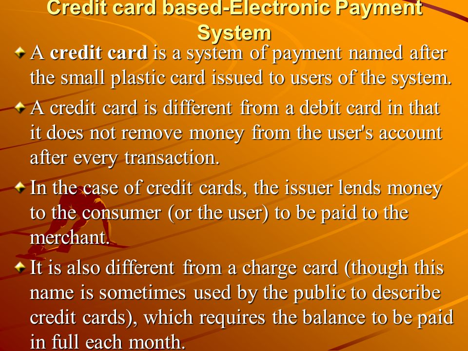 Credit card based-Electronic Payment System