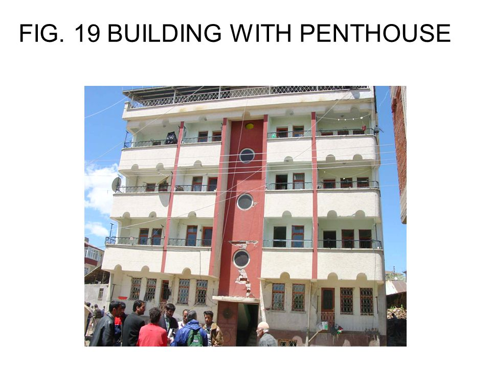 FIG. 19 BUILDING WITH PENTHOUSE