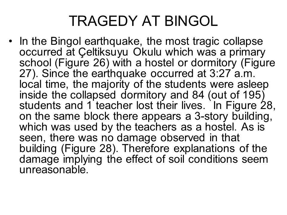 TRAGEDY AT BINGOL