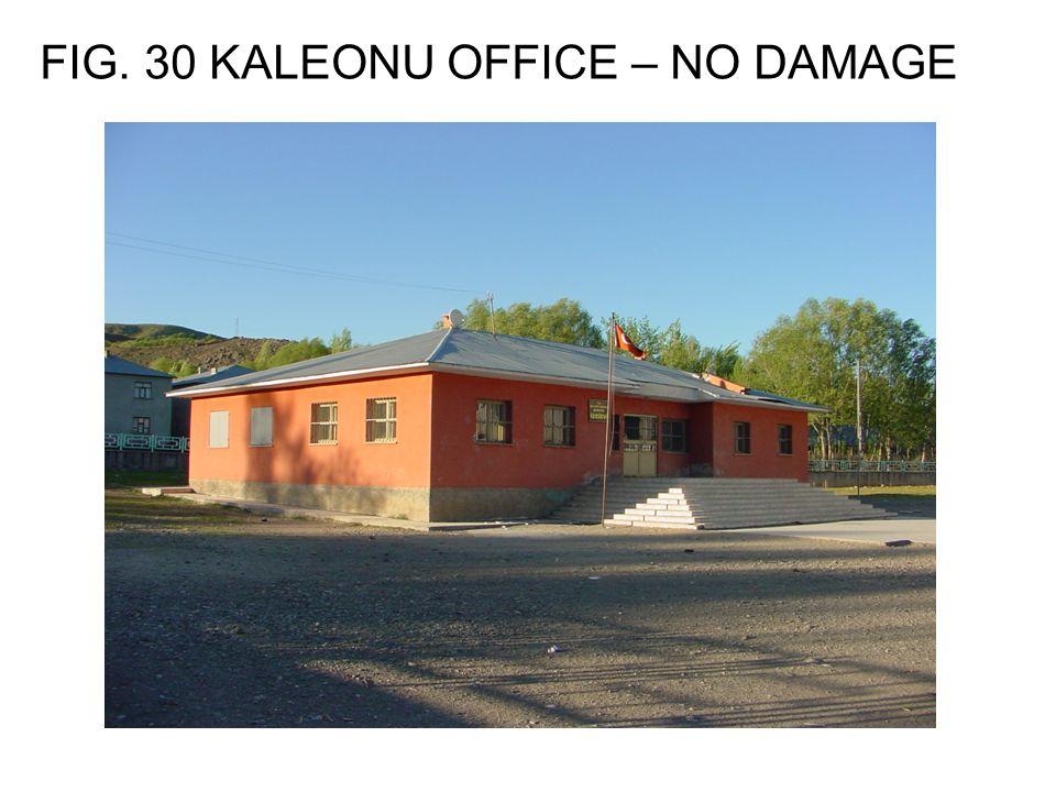 FIG. 30 KALEONU OFFICE – NO DAMAGE