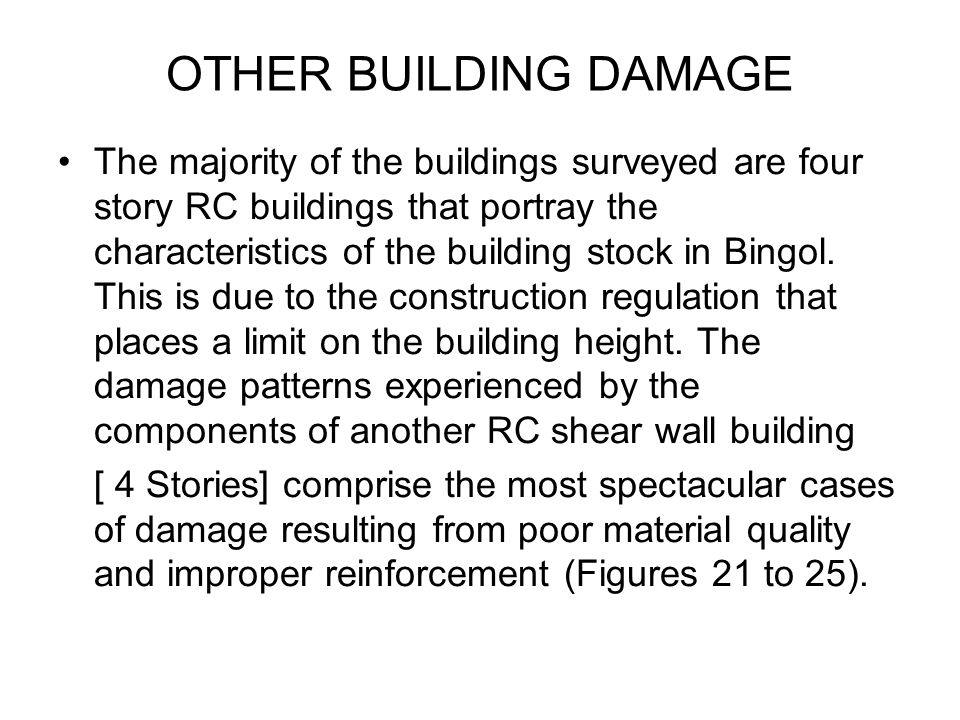 OTHER BUILDING DAMAGE