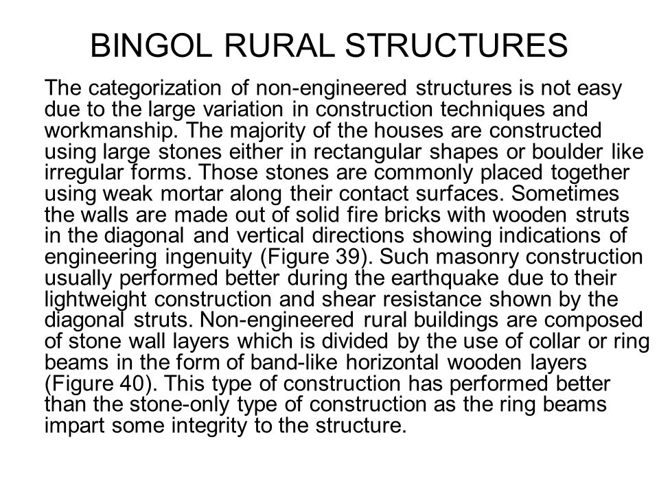 BINGOL RURAL STRUCTURES