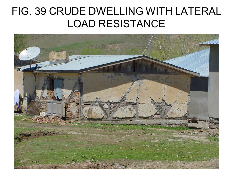 FIG. 39 CRUDE DWELLING WITH LATERAL LOAD RESISTANCE