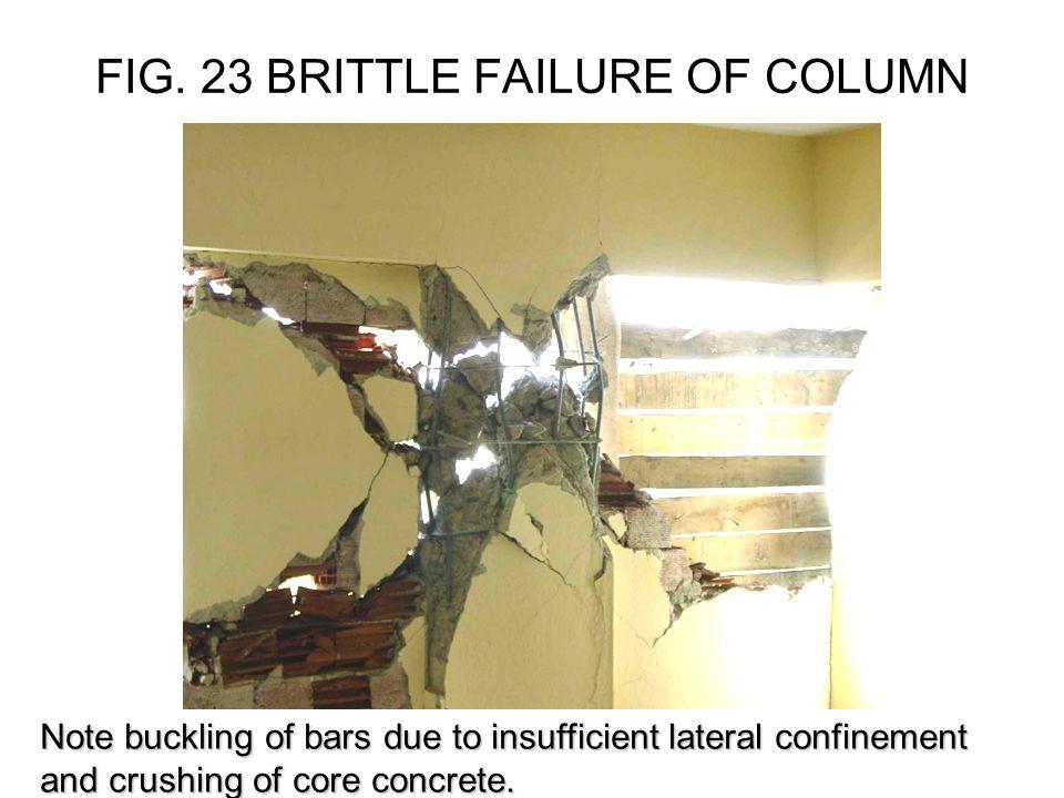 FIG. 23 BRITTLE FAILURE OF COLUMN