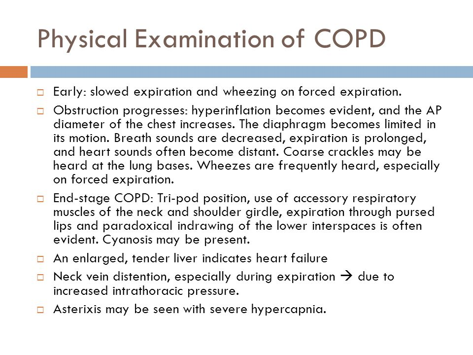 Physical Examination of COPD