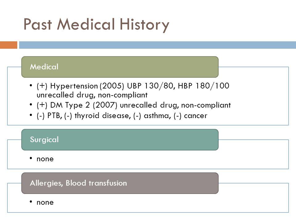 Past Medical History Medical