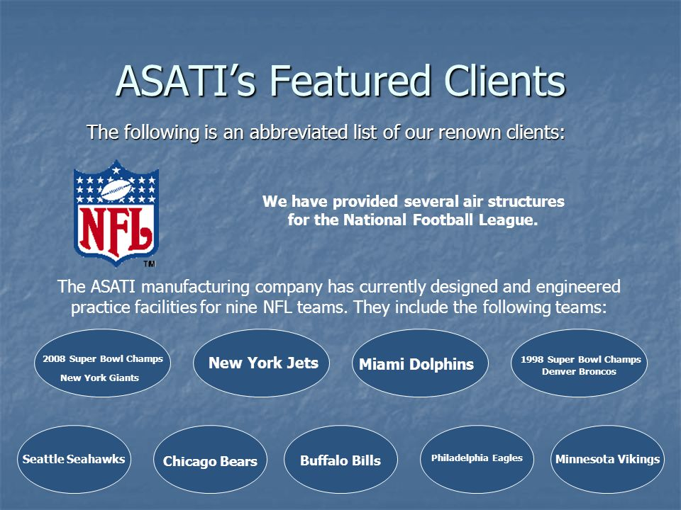 ASATI's Featured Clients