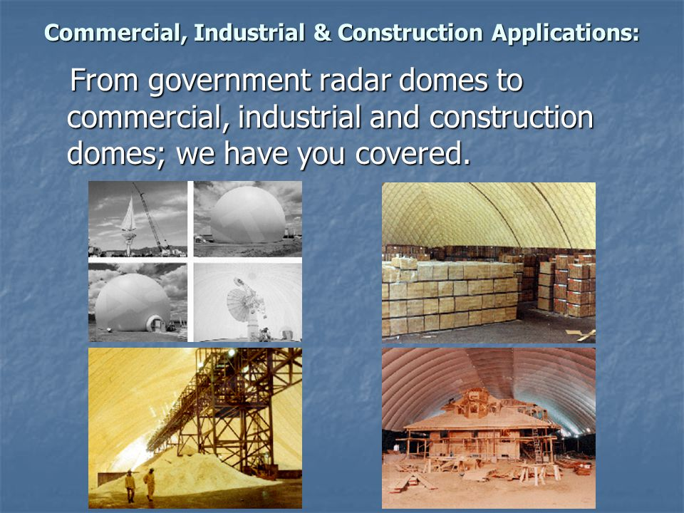 Commercial, Industrial & Construction Applications: