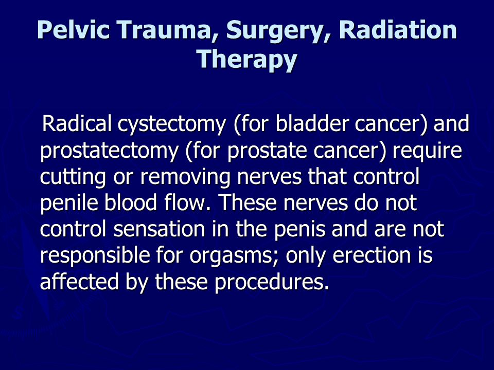 Pelvic Trauma, Surgery, Radiation Therapy