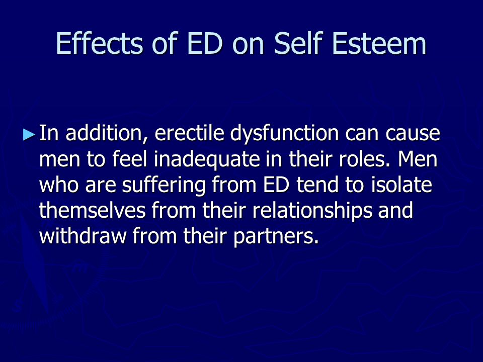 Effects of ED on Self Esteem