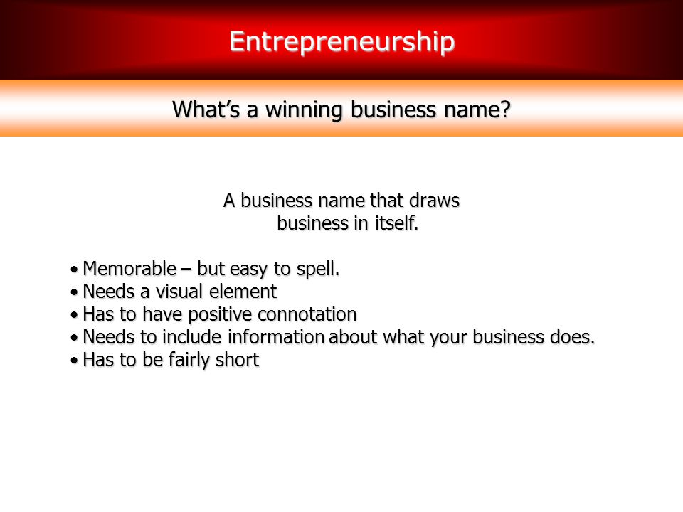 What's a winning business name