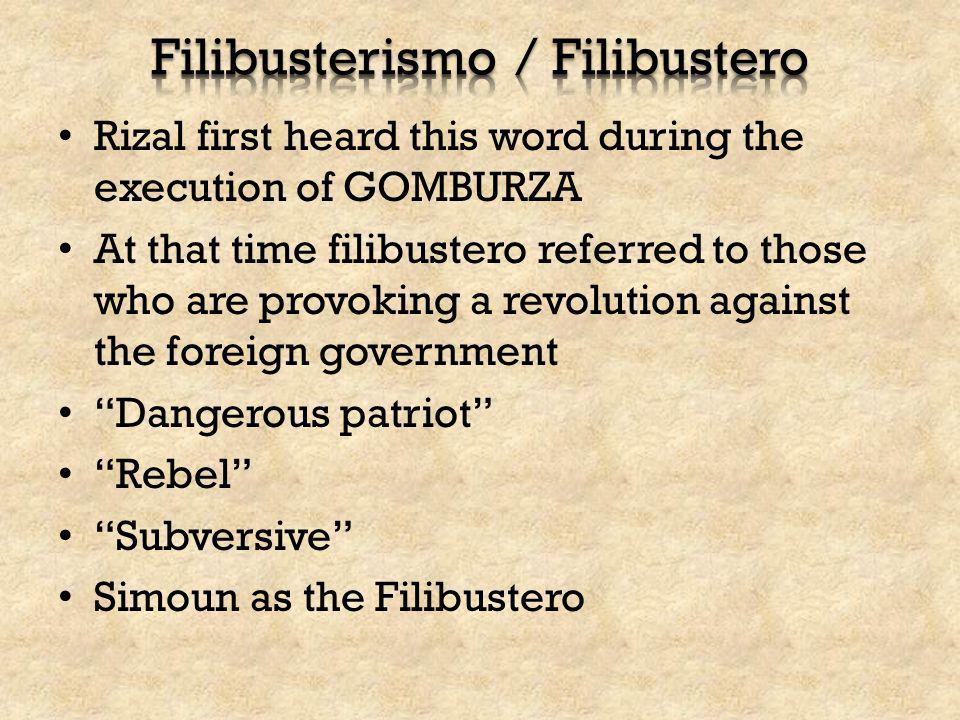 Filibusterismo / Filibustero