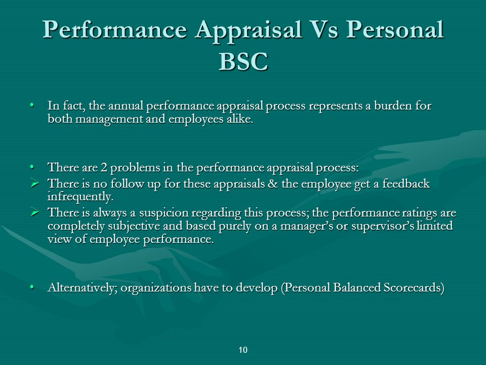 Performance Appraisal Vs Personal BSC