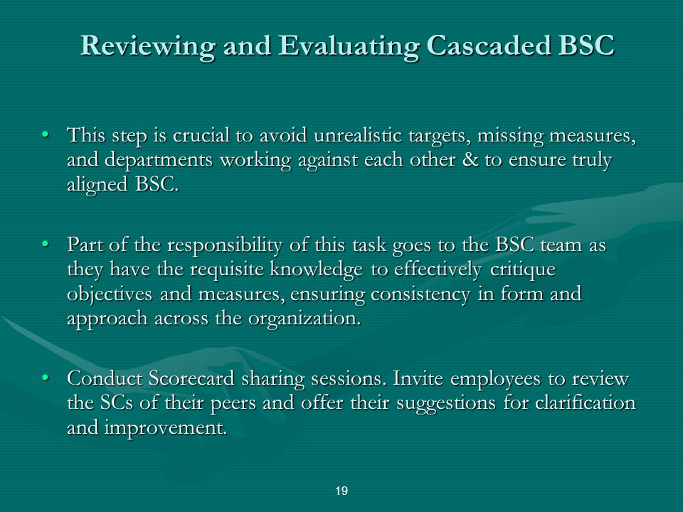 Reviewing and Evaluating Cascaded BSC