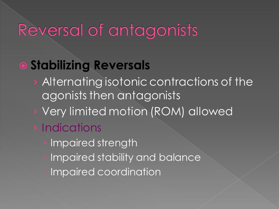 Reversal of antagonists