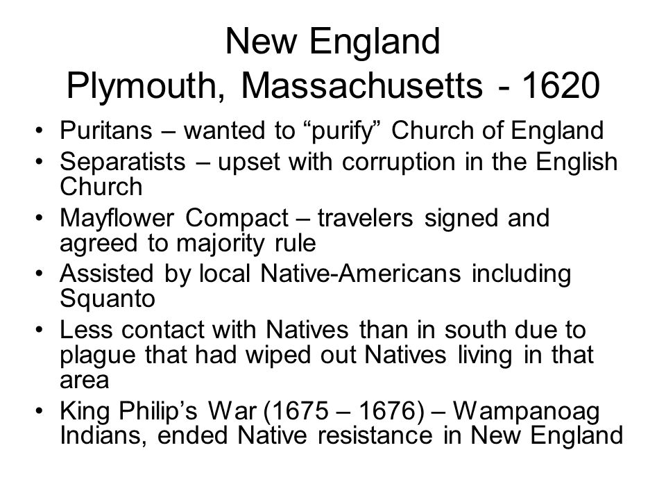 New England Plymouth, Massachusetts - 1620